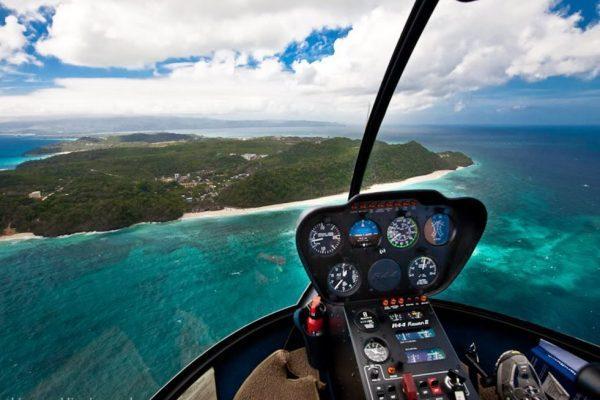 Вертолетная прогулка над Боракаем (helicopter riding)